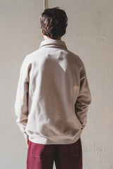 QUARTER-ZIP SWEATSHIRT IN TAUPE FOG