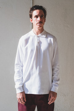 TWO BUTTON POLO IN WHITE