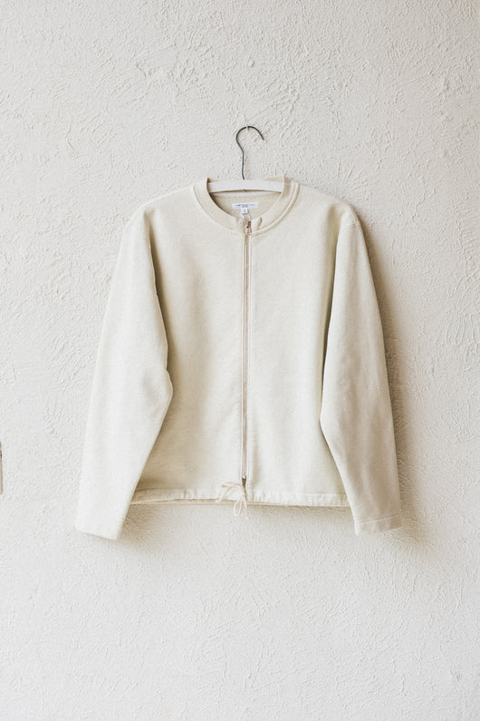 ZIP CARDIGAN IN BONE