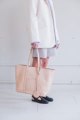 CHELITO TOTE IN NATURAL VACHETTA LEATHER