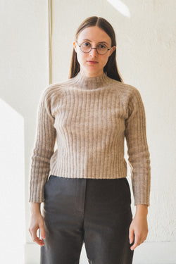 ISA RIB TOP IN OATMEAL
