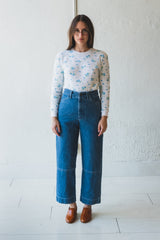 SEAMED JEAN IN HAZE INDIGO