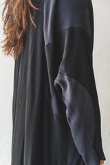 FLAP DRESS IN BAMBOO AND WOOL