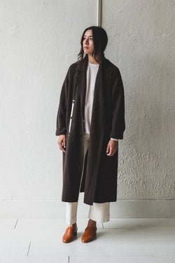DOUBLE KNIT COAT IN UNDYED YAK WOOL