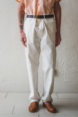 FRENCH WORK PANTS IN ECRU