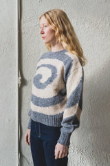 TWISTER SWEATER IN MELANGE GREY