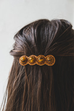 BARRETTE IN TIGER EYE