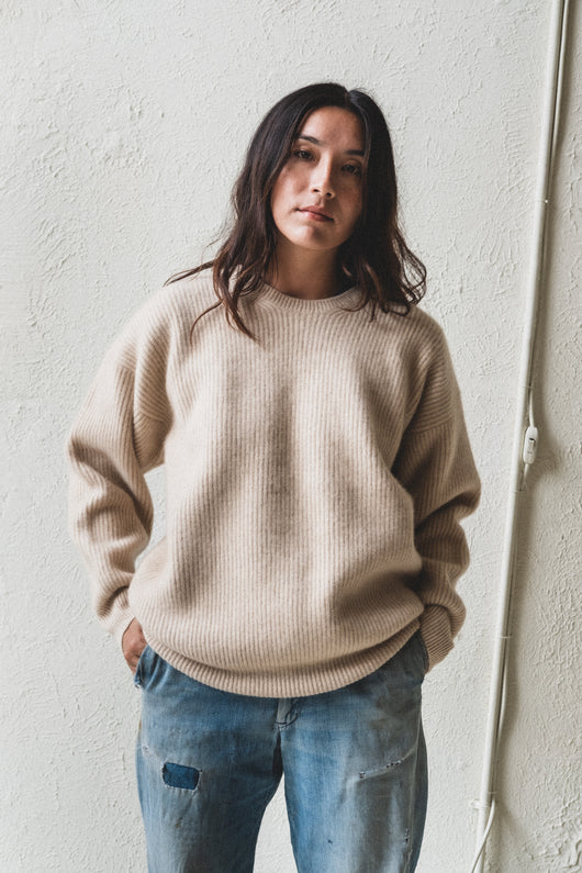 DOUBLE KNIT CASHMERE SWEATER