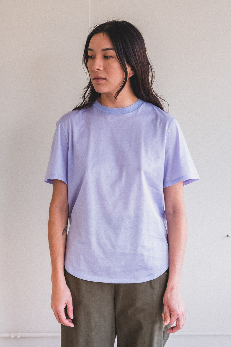 ESSENTIAL TEE SHIRT IN LILAC GIZA JERSEY