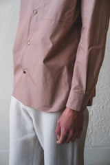 GHANDI SHIRT IN CHAI MICROBRUSHED COTTON