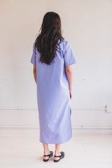 NAOKO T-DRESS IN SILKY COTTON
