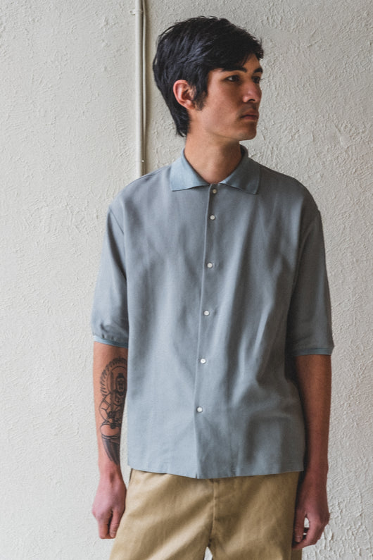 SILK COLLAR POLO
