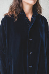 SOFT VELVET SHIRT JACKET
