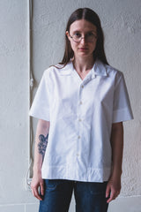 SUNNY SHIRT IN WHITE MICROBRUSHED COTTON