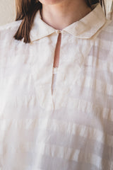 AMBER SMOCK TOP IN SHEER CHECK