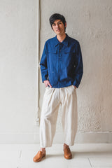 BICKER SHIRT IN INDIGO COTTON