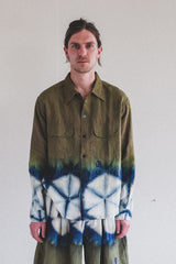 SNACK SHIRT IN FOREST CLAMP DYE