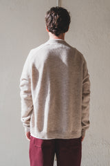 COTTO LAMBSWOOL CARDIGAN IN COBBLE
