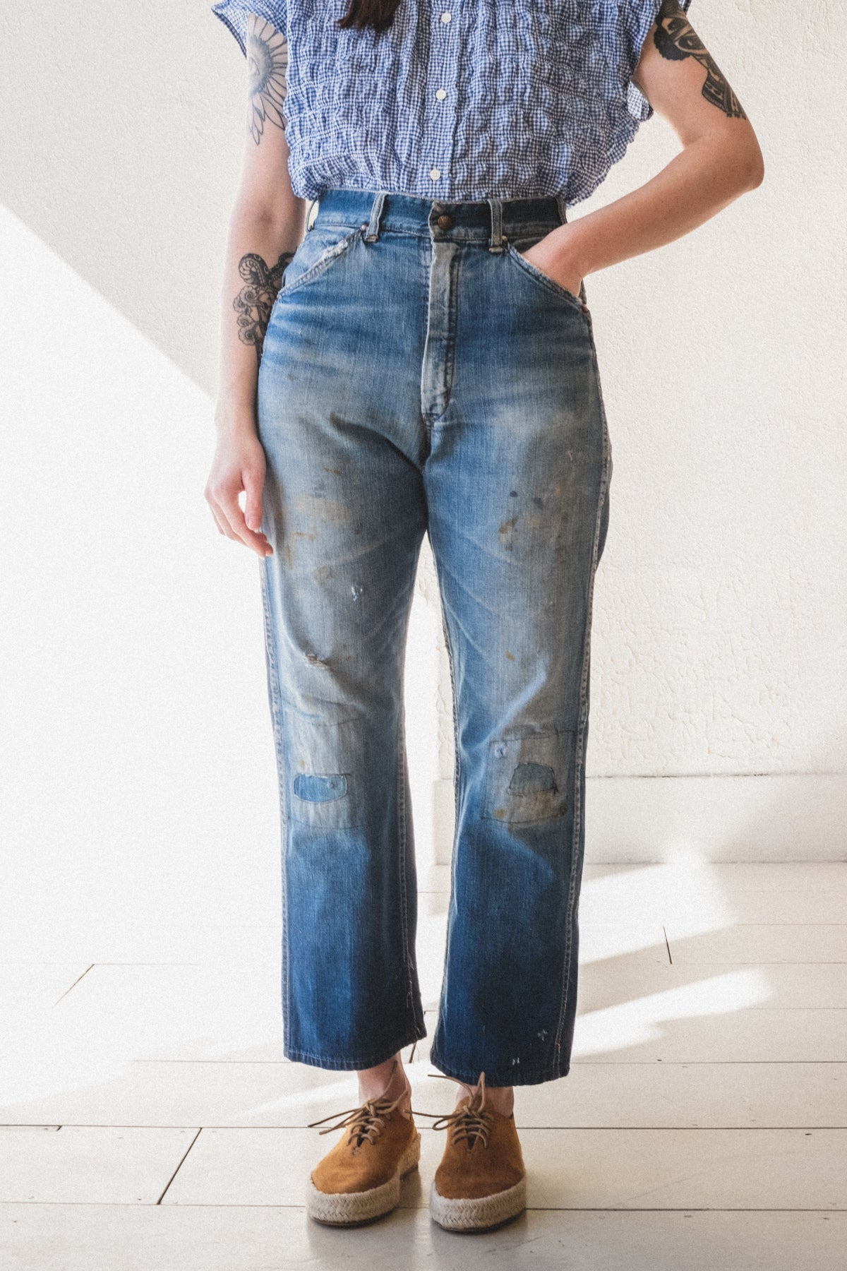 VINTAGE DENIM TROUSERS 01
