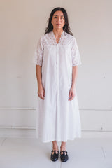 VINTAGE EDWARDIAN WHITE DRESS A