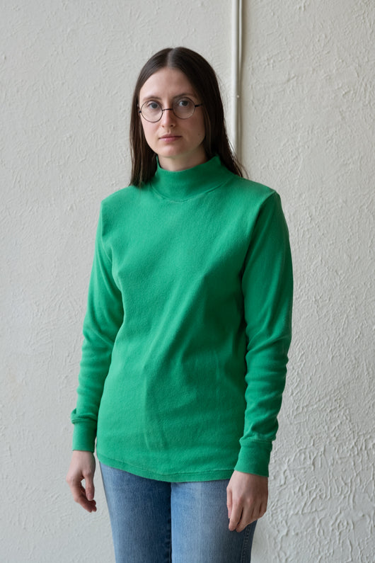 VINTAGE GREEN MOCK TURTLENECK 02