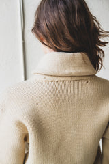 VINTAGE SHAWL COLLAR STUDENT SWEATER
