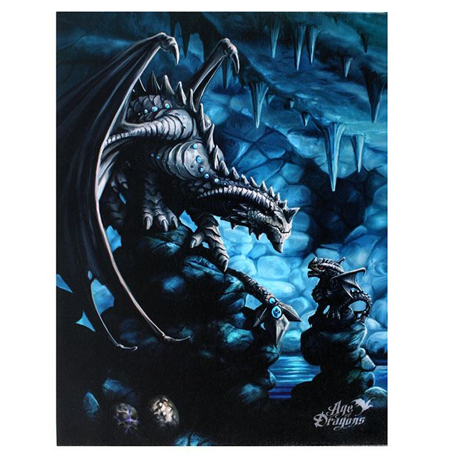 Anne Stokes Age of Dragons Rock Dragon Canvas Small