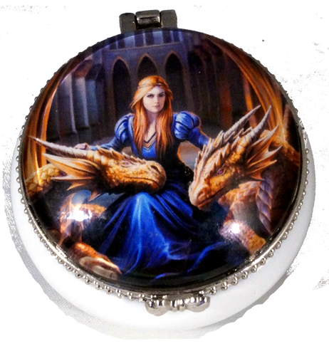 Anne Stokes Fierce Loyalty Trinket box.