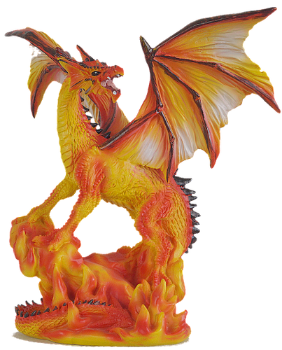 Realm of Dragons Medium Fire Dragon B.