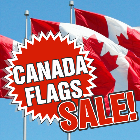Sewn Canada Flags     * CANADA FLAG SALE ON NOW! *