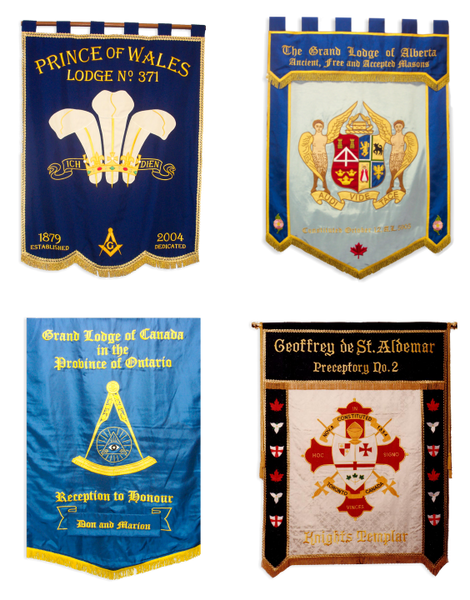 Embroidered Lodge & Shrine Banners