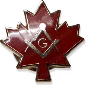 Maple Leaf Square & Compass Lapel Pin - Dominion Regalia Ltd.
