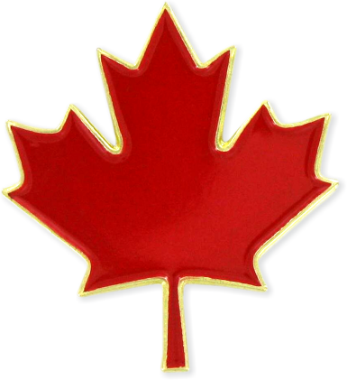canada red maple leaf lapel pin