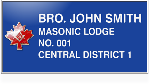 Masonic Name Tag