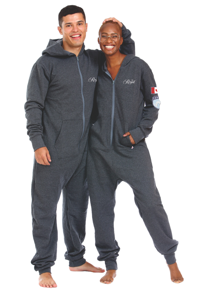 "The Royal Onesie ""CHARCOAL GREY"" - Dominion Regalia Ltd."