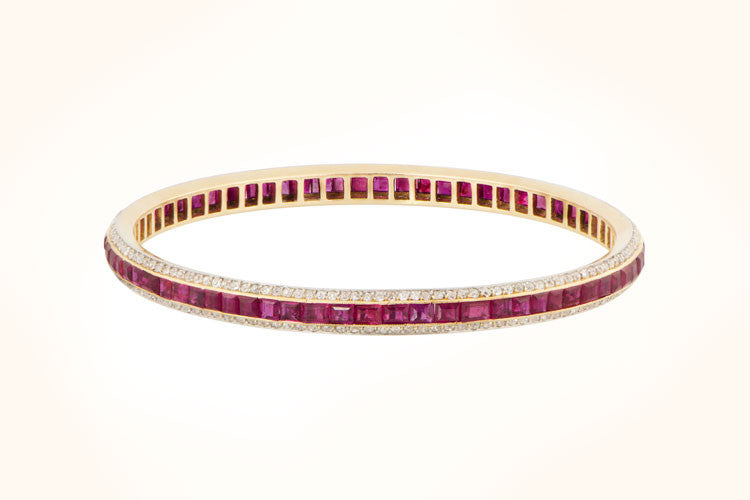 and bracelet piece diamond ruby at proddetail bangle rs bangles