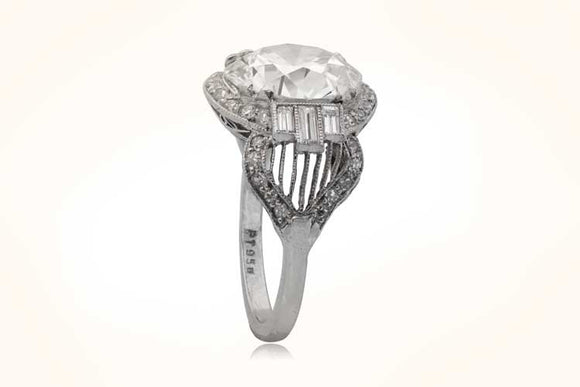 5.12 Carat Art Deco Ring