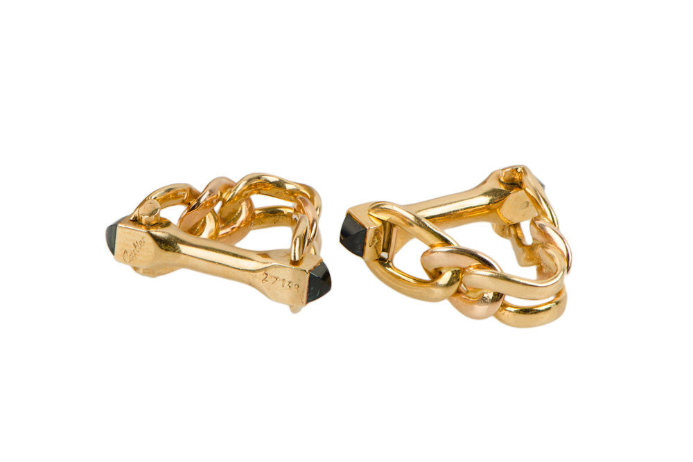Signed Cartier Gold Cufflinks
