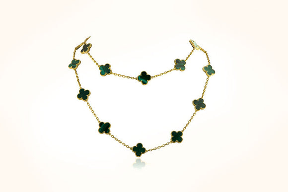 Van Cleef & Arpels Malachite Necklace