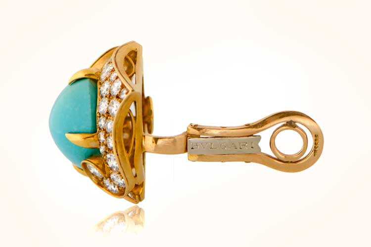 Bulgari Turquoise Earrings