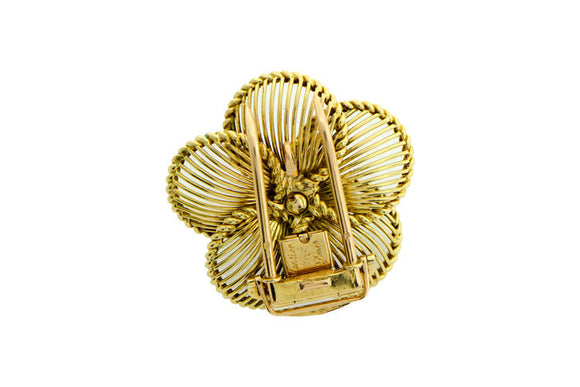 Cartier Paris Gold Floral Brooch