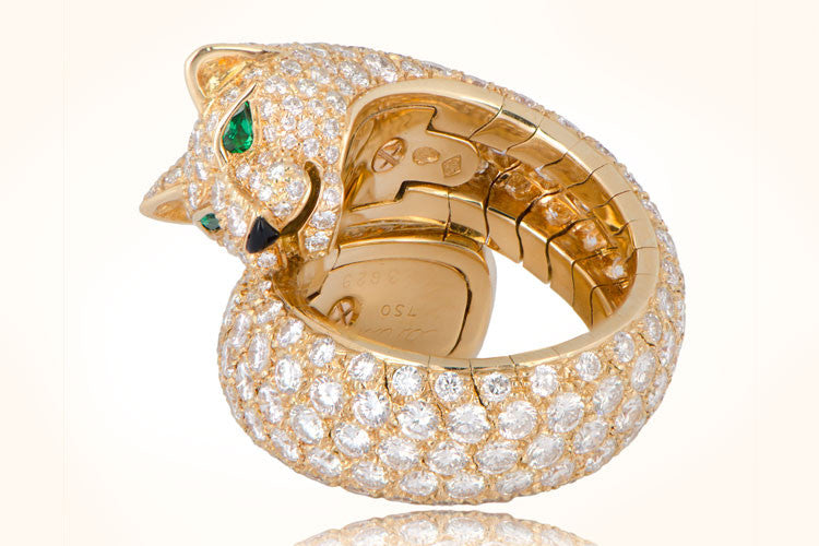 37dcbf6836034 Cartier Panther Gold Ring - M. Khordipour