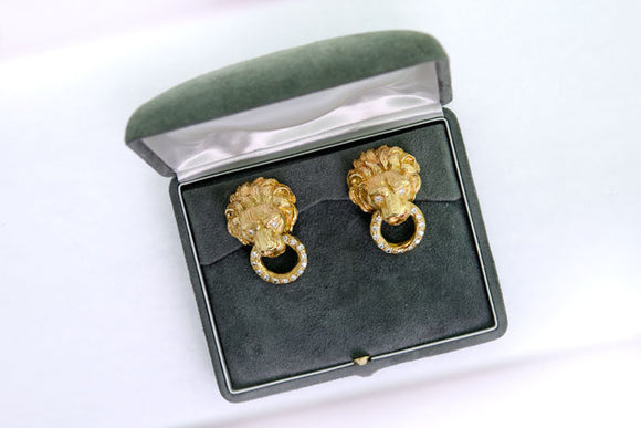 Van Cleef and Arpels Lion Earrings
