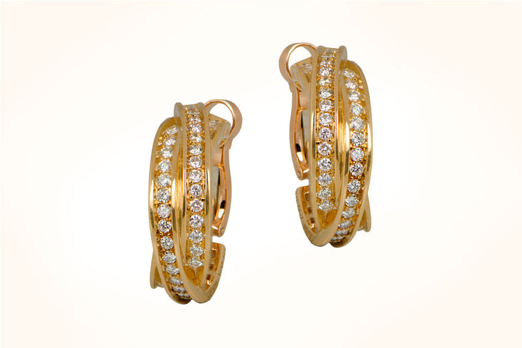 Cartier Gold Trinity Earrings