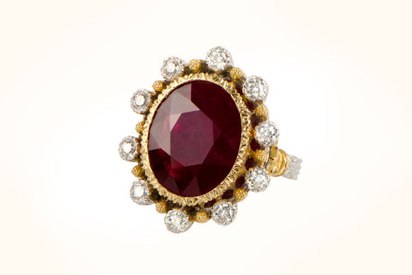 Vintage Buccellati 7.40ct Ruby Ring