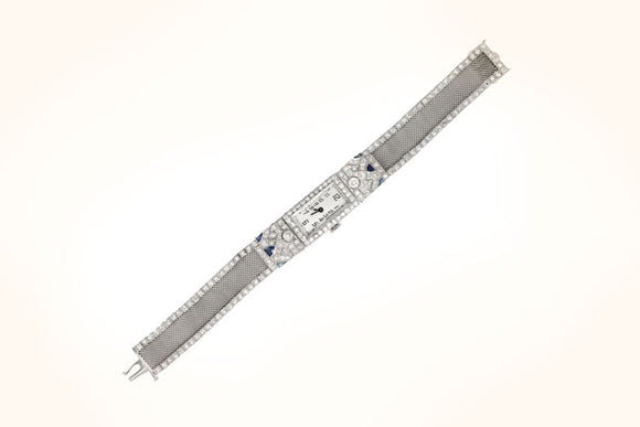 Antique Diamond and Sapphire Watch