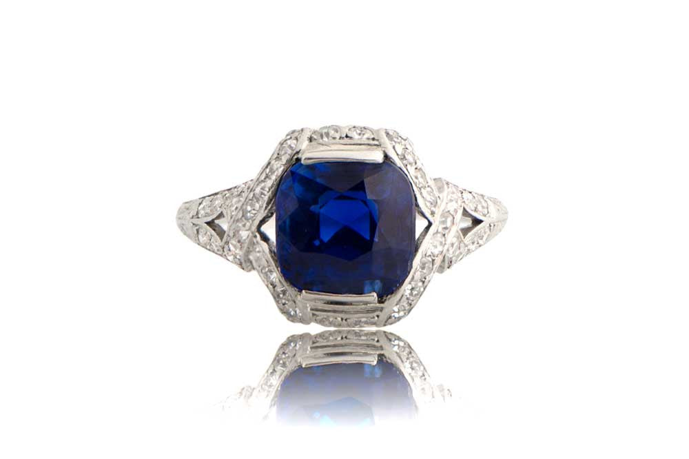 gemstone carat and sapphire total gold diamond white ring