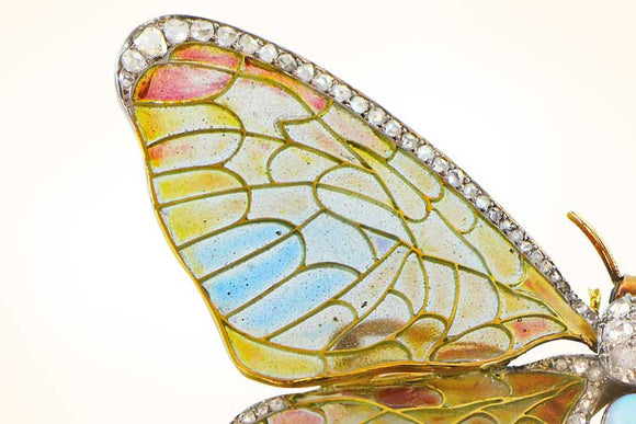 Art Nouveau Butterfly Brooch