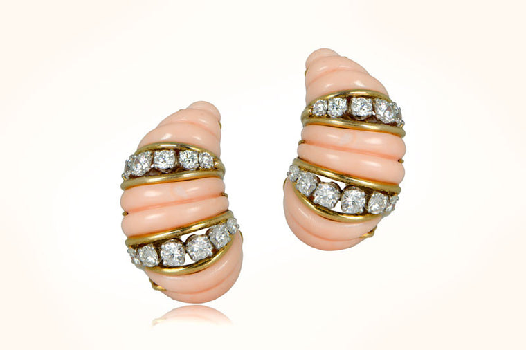 Cartier Coral Earrings