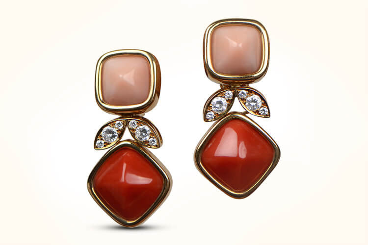 VCA Coral Earrings